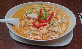 Chicken Laksa at Ba Ba Laksa House Sydney