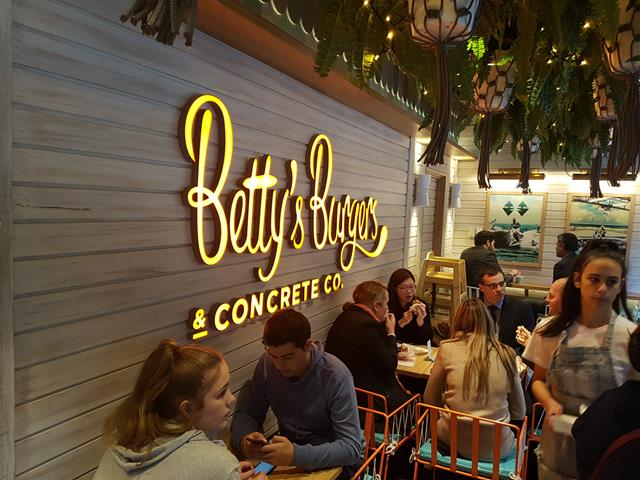 Inside Betty's Burger Darling Harbour Sydney