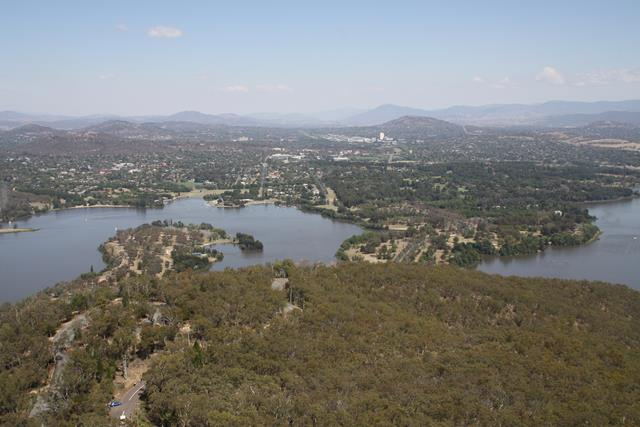 View from Black Mountain over to Woden