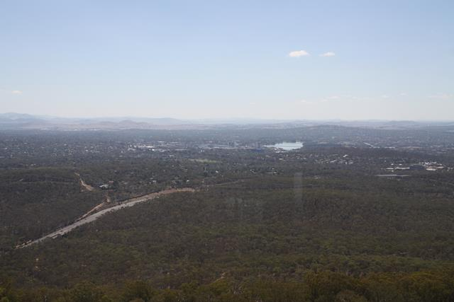 View from Black Mountain over to Belconnen