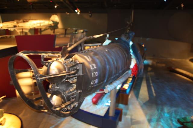 Front view of Japanese Midget Submarine M27