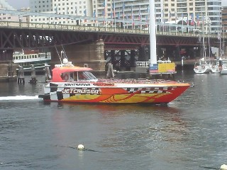Jet boats on Sydney harbour sightseeing tours